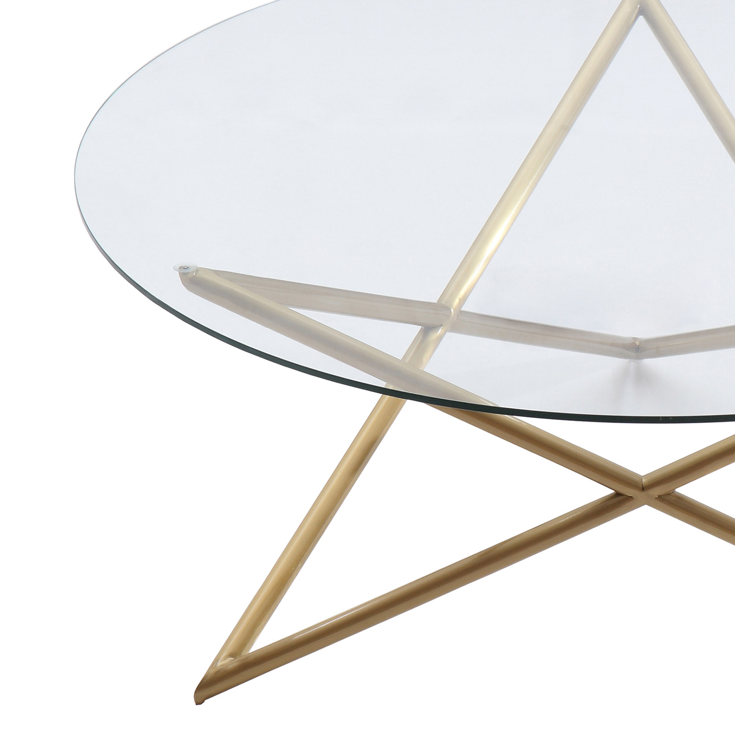 Armen Living Crest Coffee Table Gold AL LCCRCOGLGD at Homelement