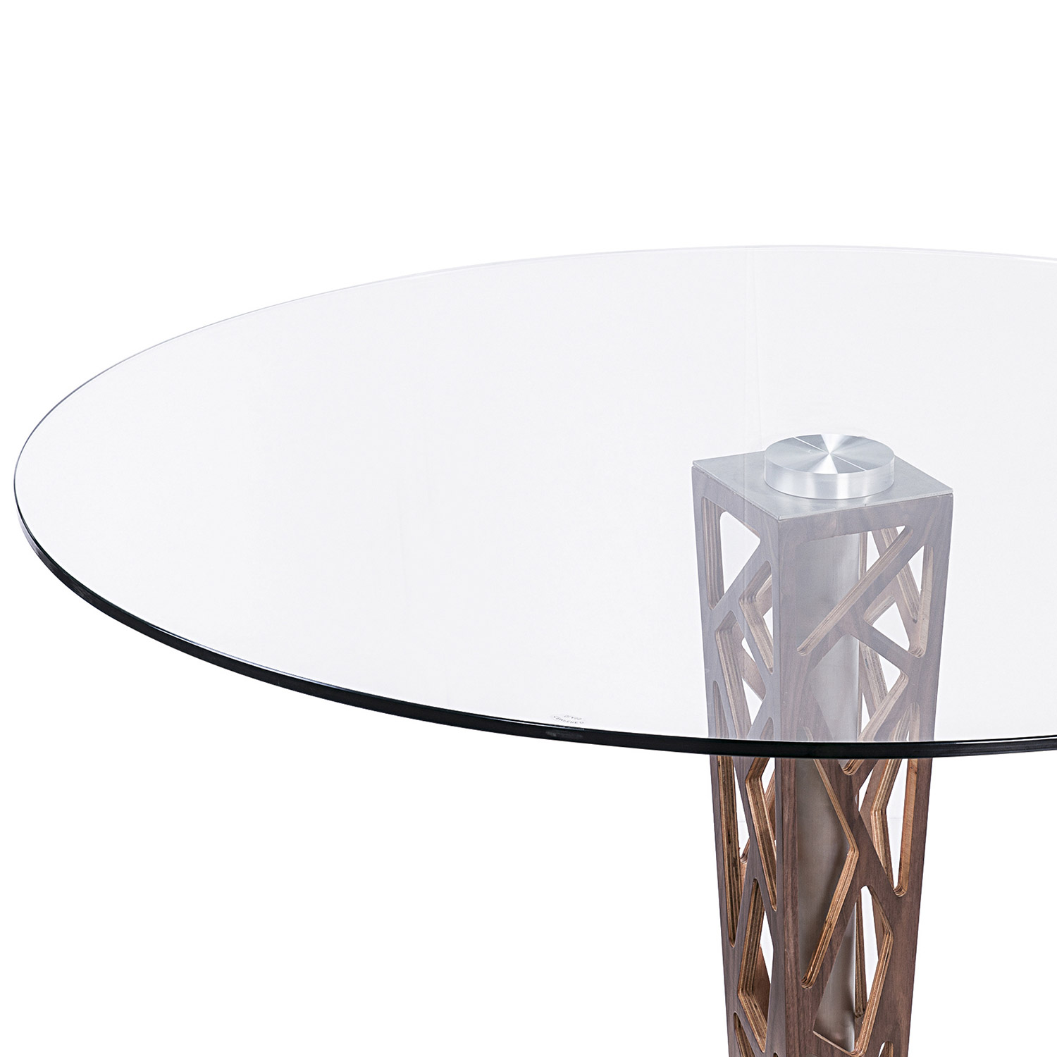 Armen Living Crystal 48-inch Round Dining Table - Clear