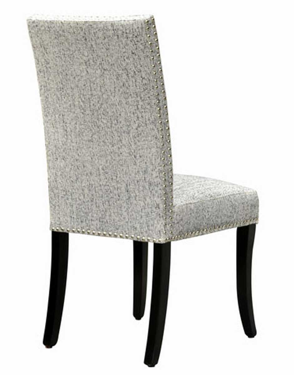 Armen Living Accent Nail Side Chair - Ash Fabric