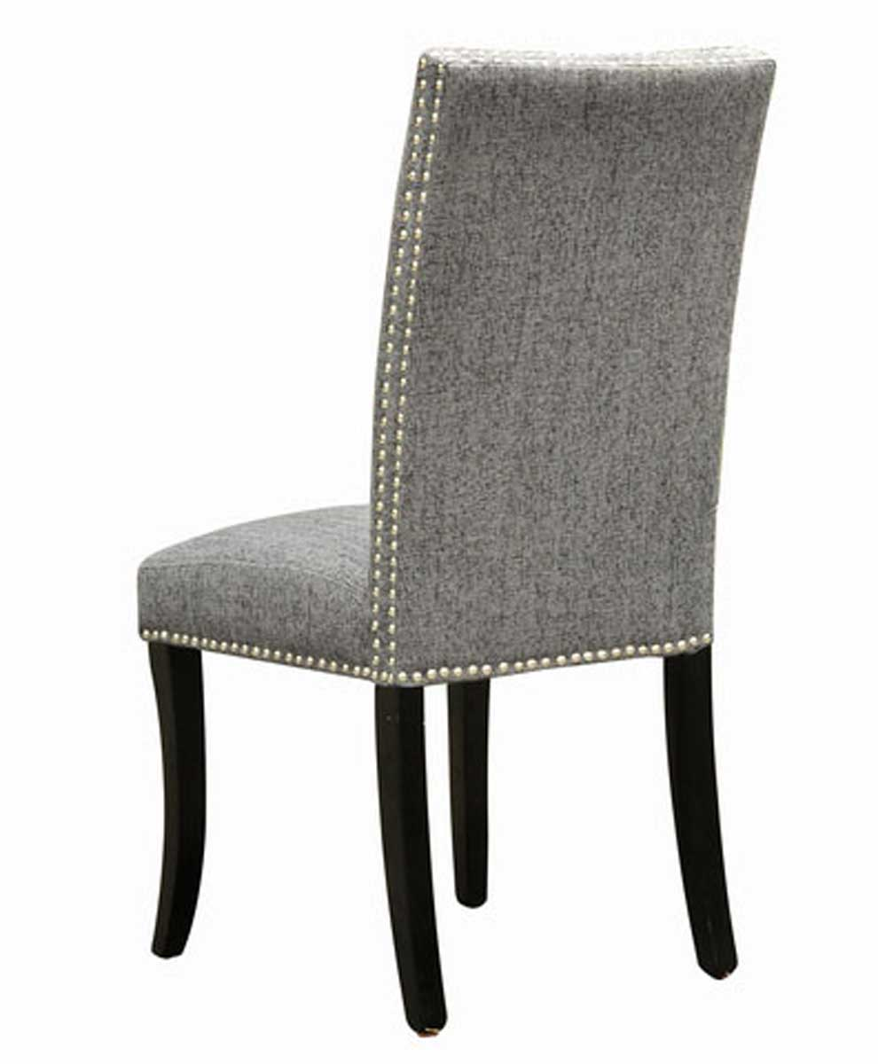 Armen Living Accent Nail Side Chair - Charcoal Fabric