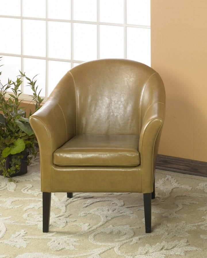 Armen Living 1404 Camel Leather Club Chair Al Lcmc001clca