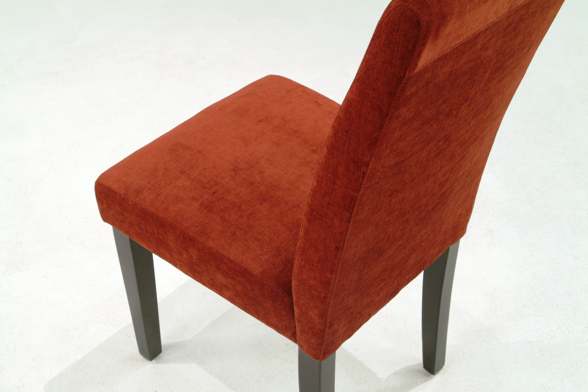 Armen Living Pimento Color Fabric Side Chair