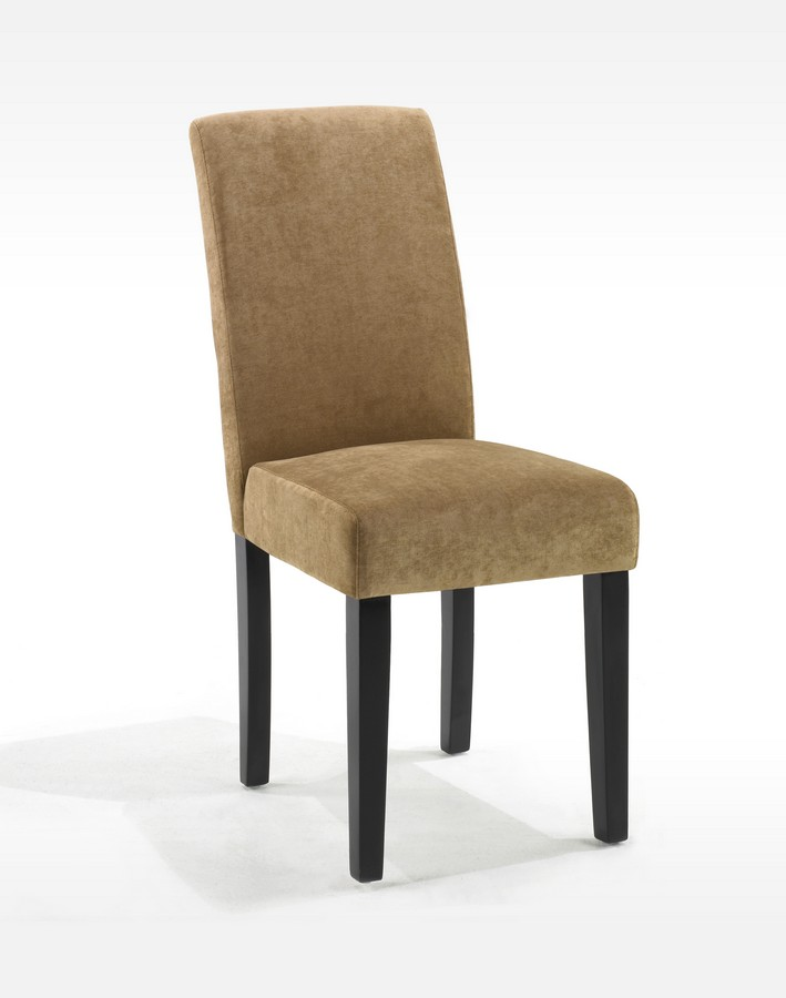 Armen Living Tobacco Fabric Color Side Chair