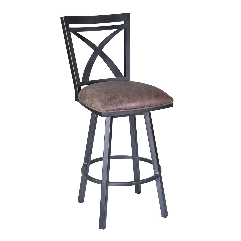 armen living nova 30 inch bar stool bandero tobacco bandero office desk 100