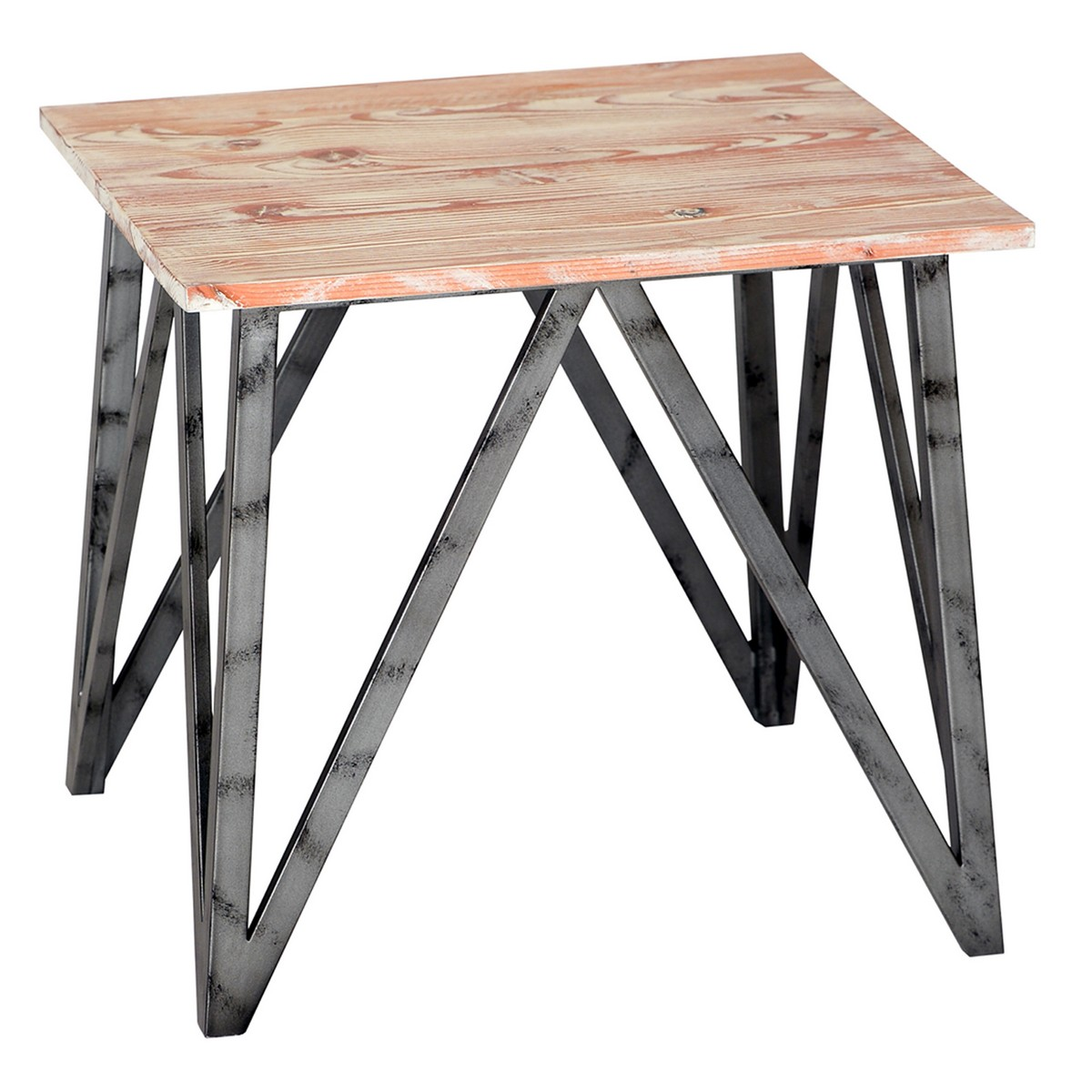Armen Living Regis Pine Top End Table