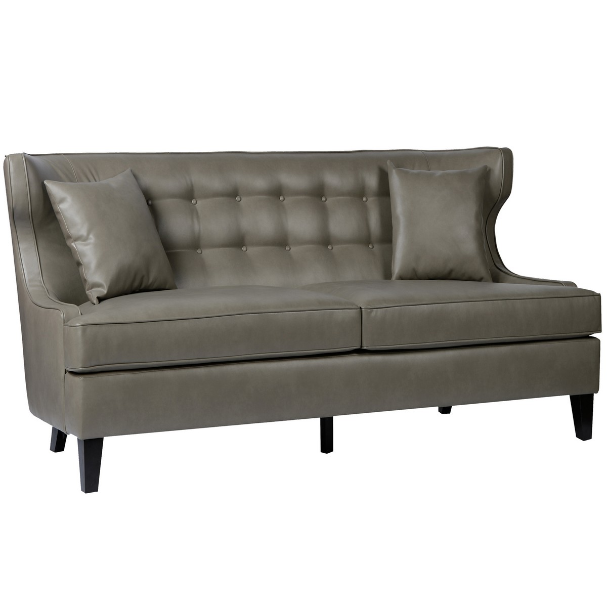 Armen Living Skyline Loveseat In Smoke Bonded Leather Al Lcsk2sm At