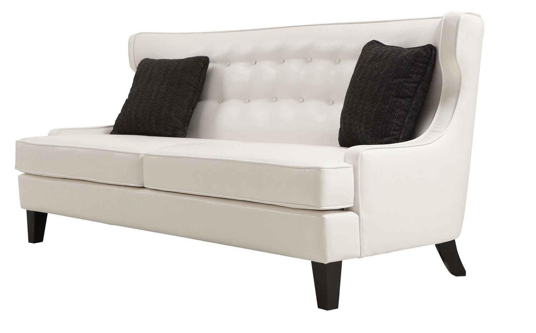 Armen Living Skyline Sofa Set - White