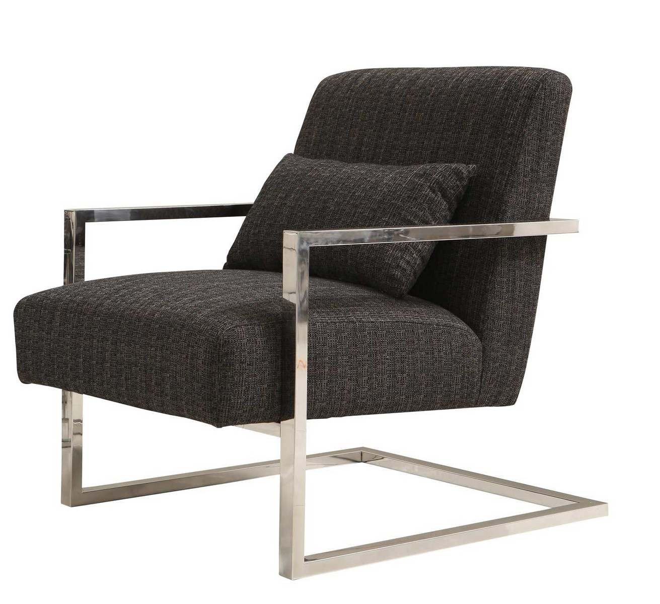 Armen Living Skyline Accent Chair - Charcoal