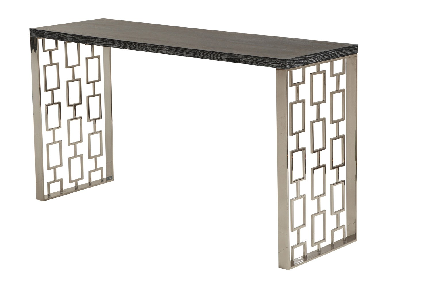 Armen Living Skyline Console Table - Charcoal