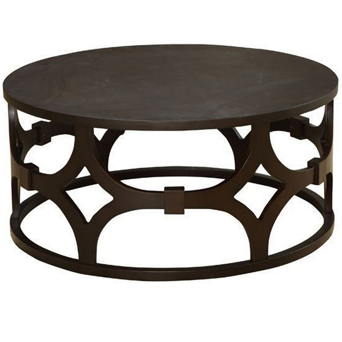 Armen Living Tuxedo Round Coffee Table