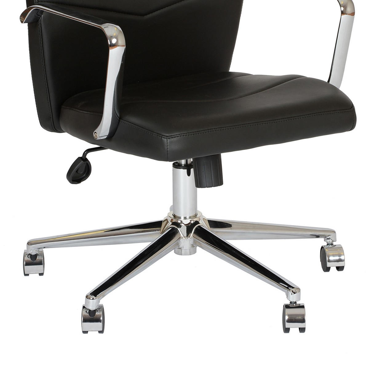 Armen Living Viken Contemporary Office Chair In Black And