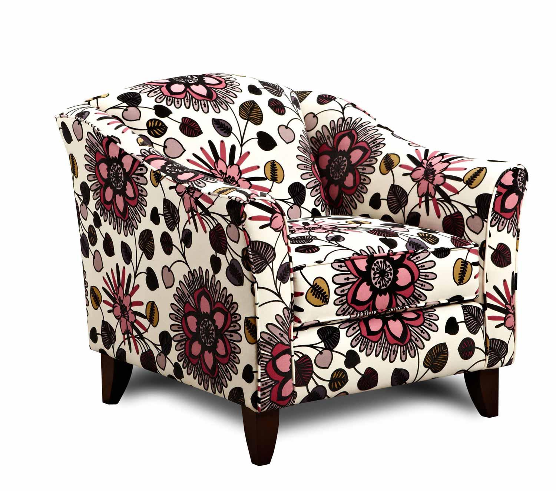 Armen Living Mindy Chair - Belcnto Rose Fabric