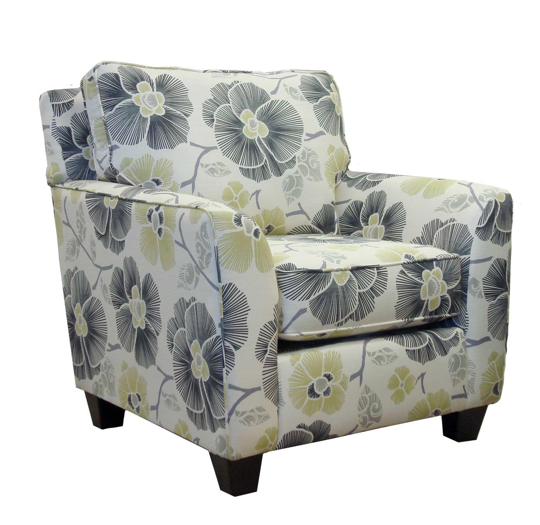Armen Living Rally Chair - Zara Gunmetal Fabric