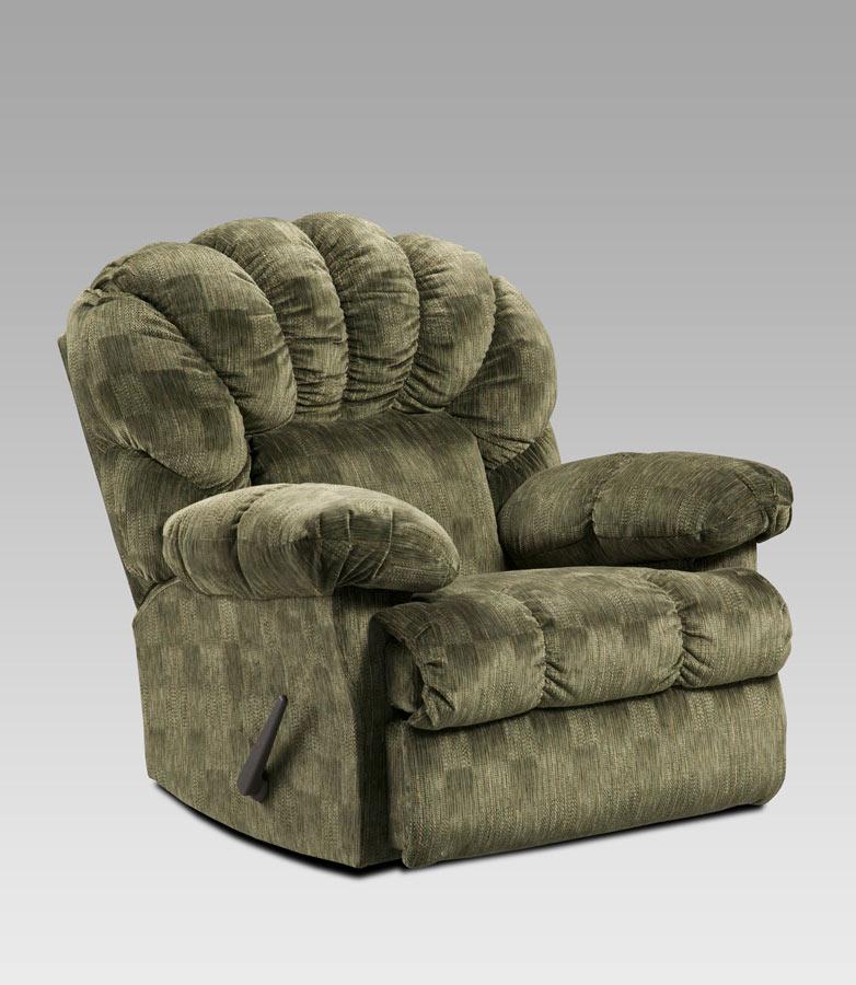 Apollo recliner pixty stix moss chaise rocker recliner for Chaise x rocker