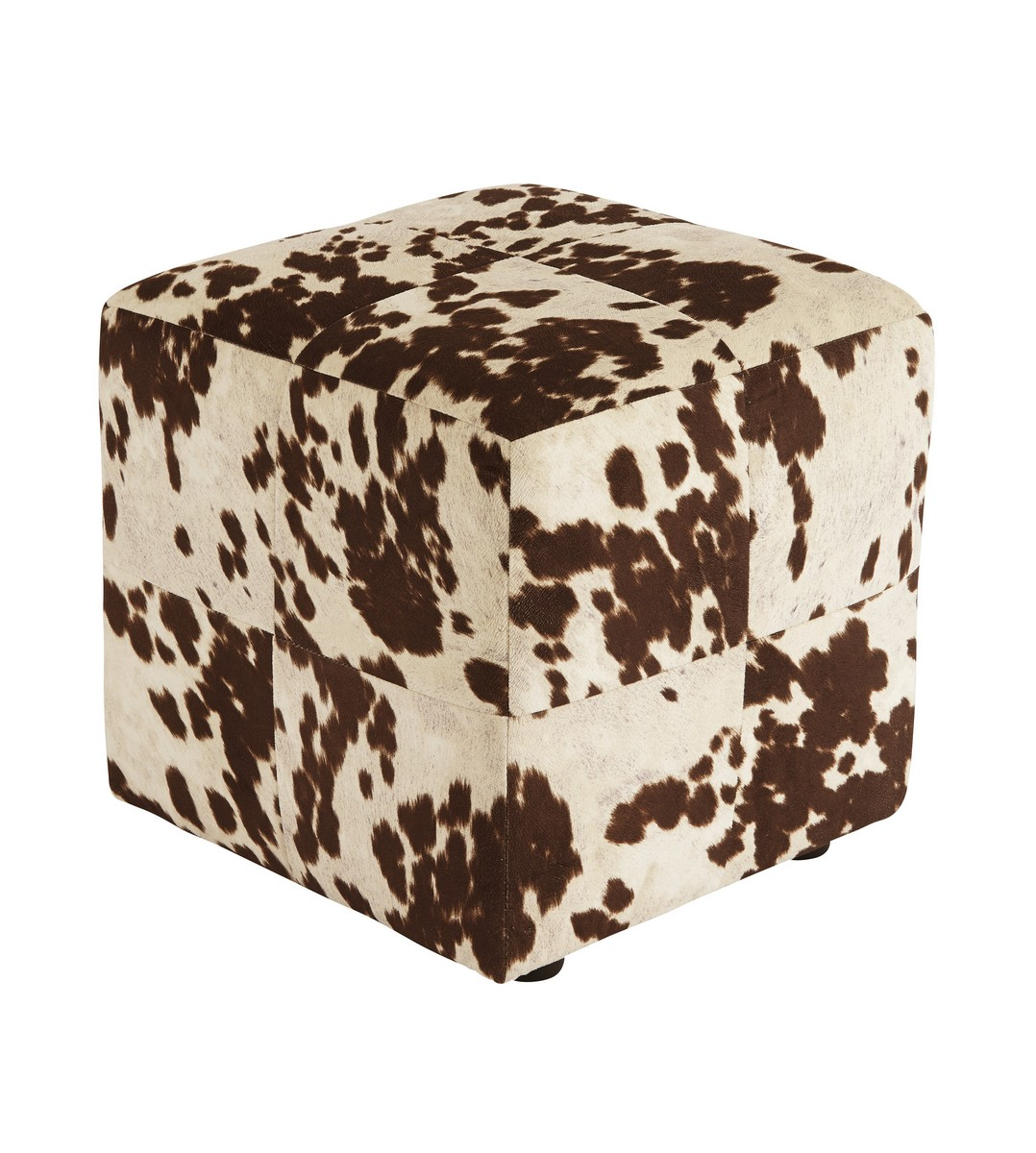 Ashley Bremer Accent Ottoman - Chocolate/White