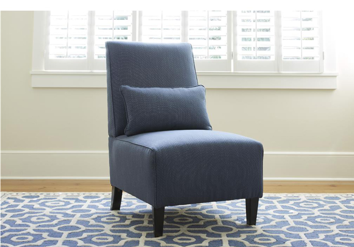 Ashley Harahan Armless Chair - Indigo