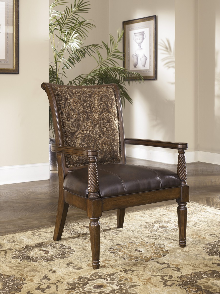 Ashley Barcelone Showood Accent Chair - Antique