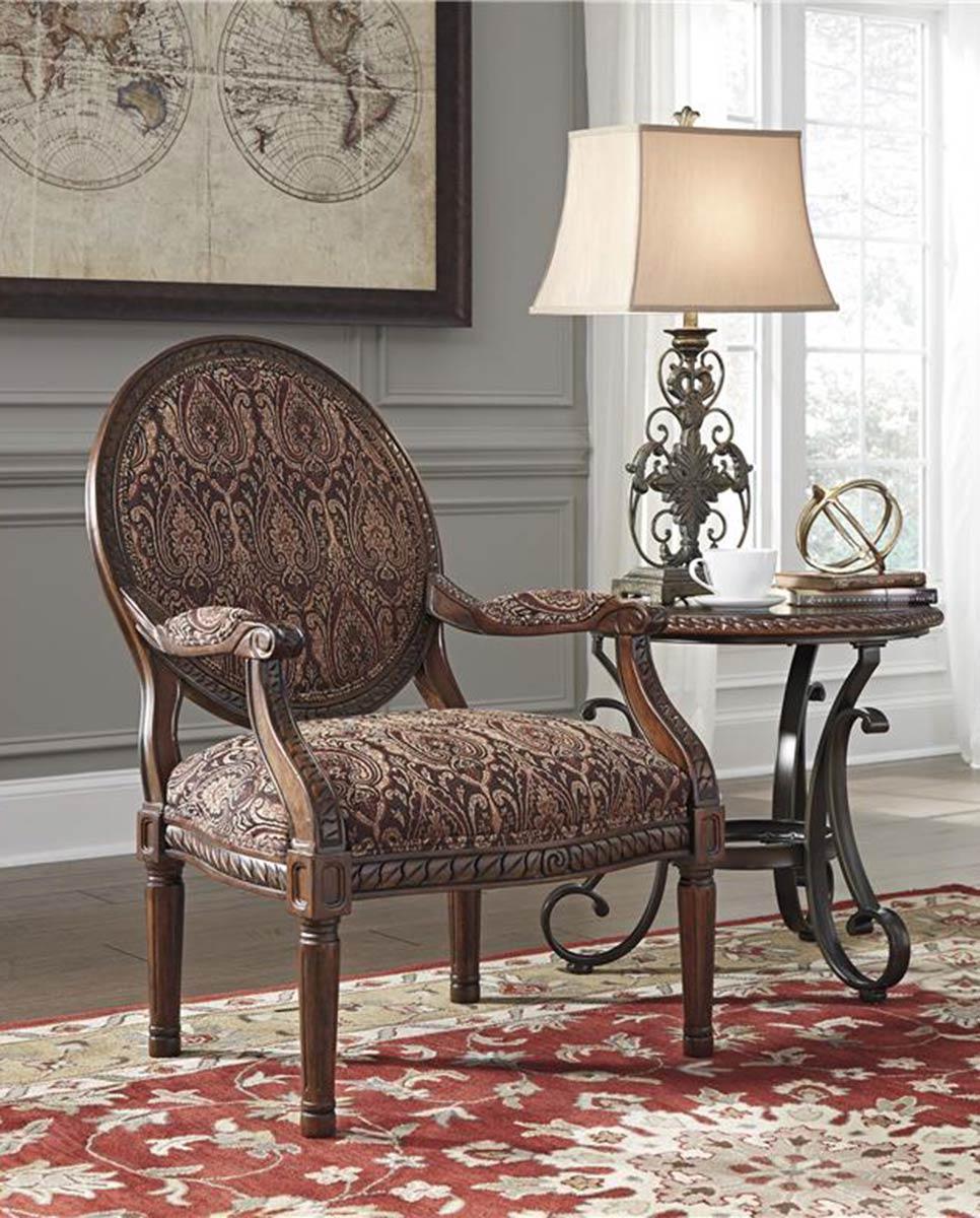 Ashley Vanceton Antique Accent Chair - Ashley Vanceton Antique Accent Chair ASHLEY-6740260 At Homelement.com