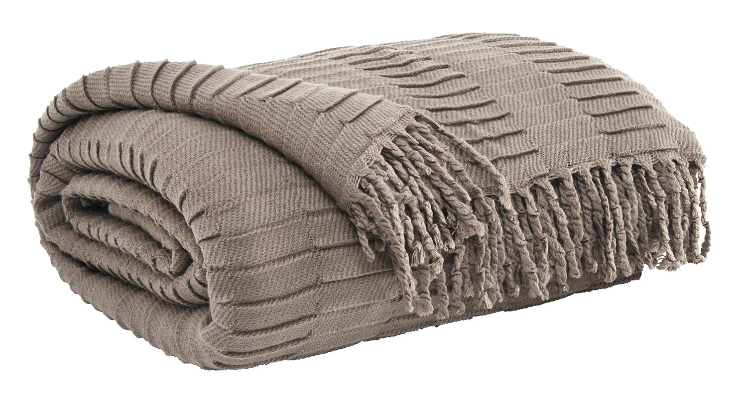 Ashley Mendez Throw - Set of 3 - Taupe