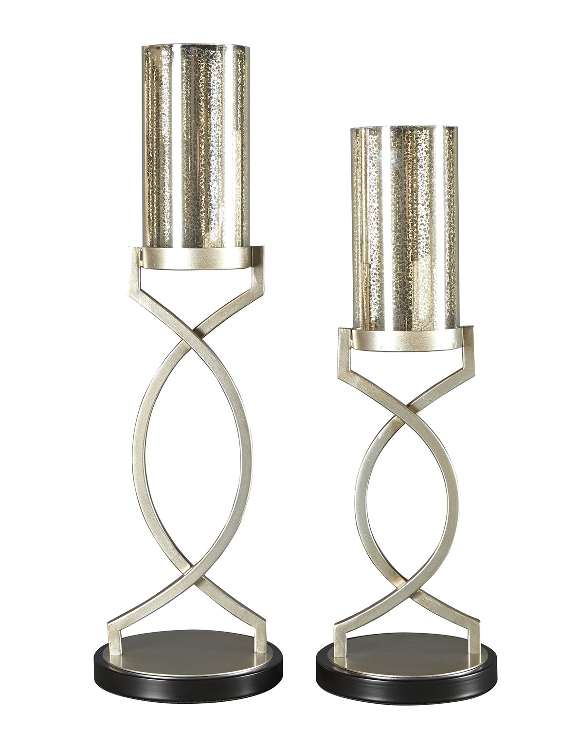 Ashley Odeletta 2 PC Set Candle Holder - Silver
