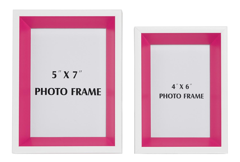 Ashley Obie 2 PC Set Photo Frame - White/Pink