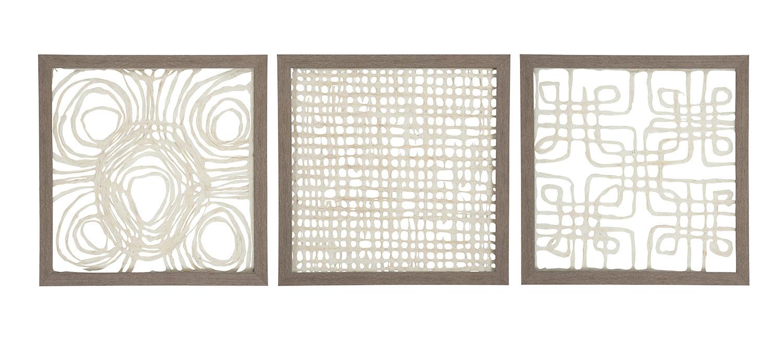 Ashley Odella Wall Decor Set - Cream/Taupe
