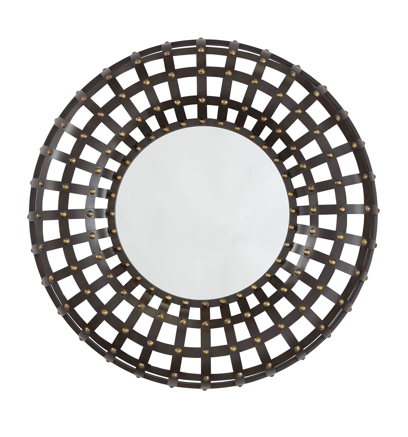 Ashley Ogier Accent Mirror - Brown/Gold