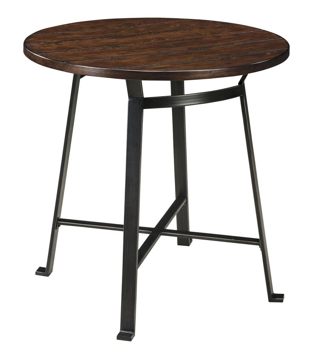 d307 12 ashley challiman round dining room bar table 36w x 36d x 42h