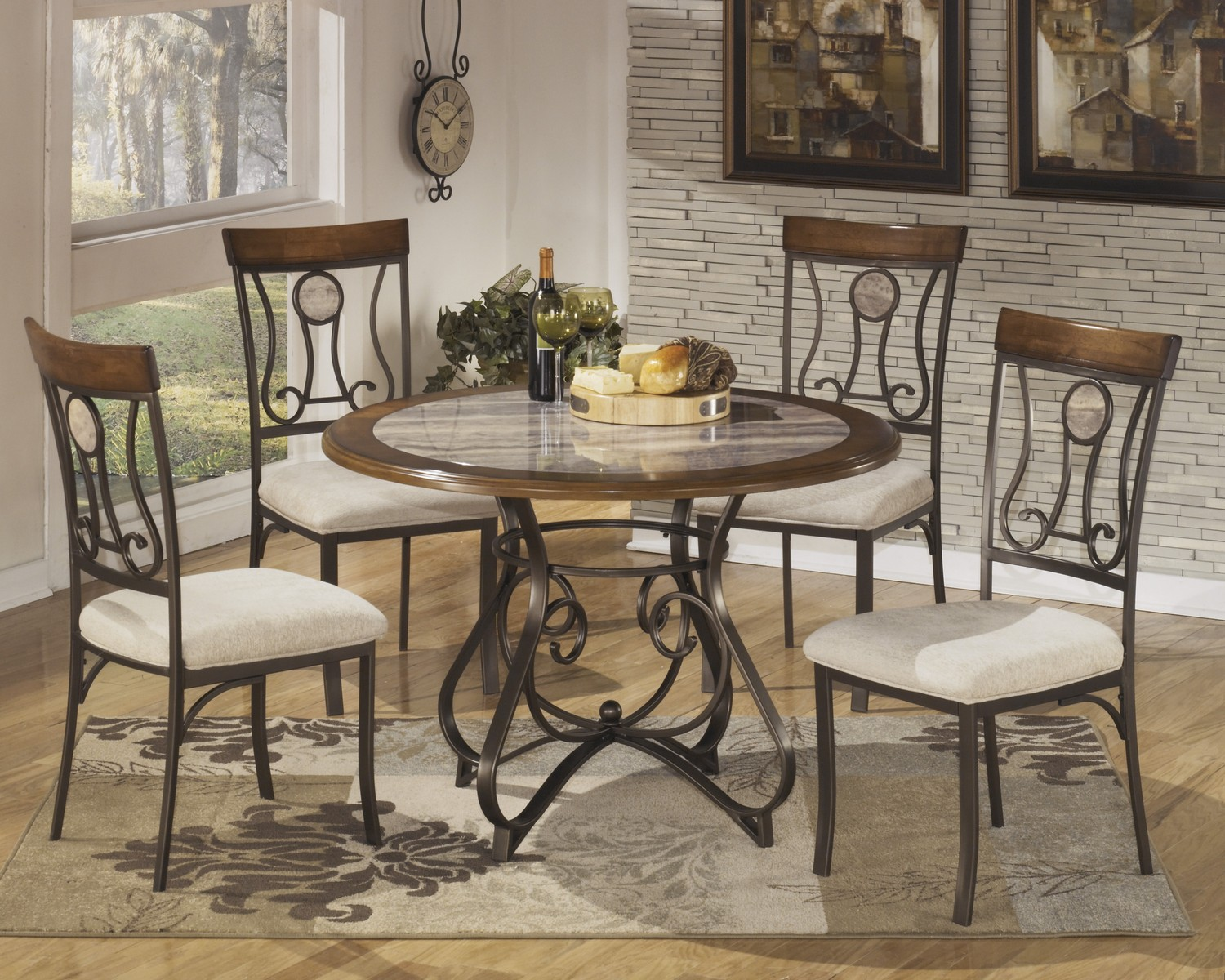Ashley Hopstand Round Dining Set