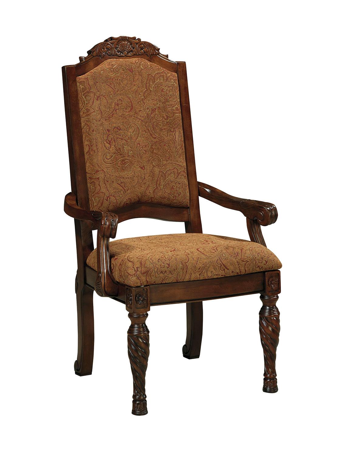 Ashley North Shore Dining Upholstery Arm Chair Ashley D553 02a At