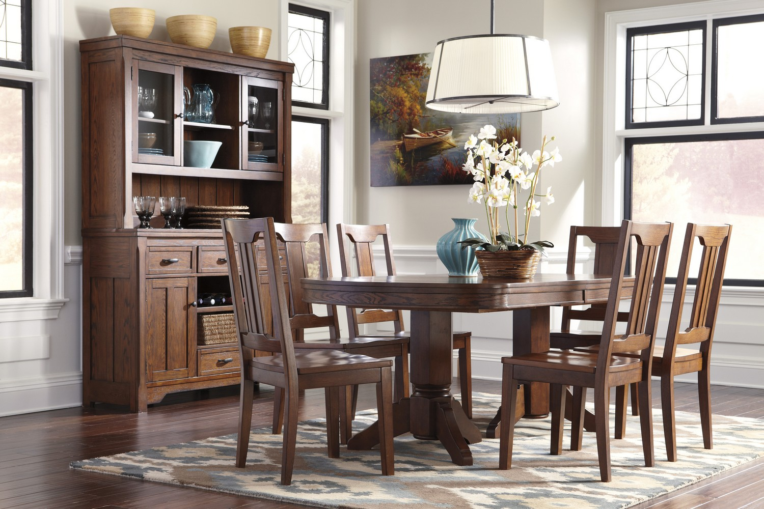 Ashley Chimerin Oval Dining Room Set