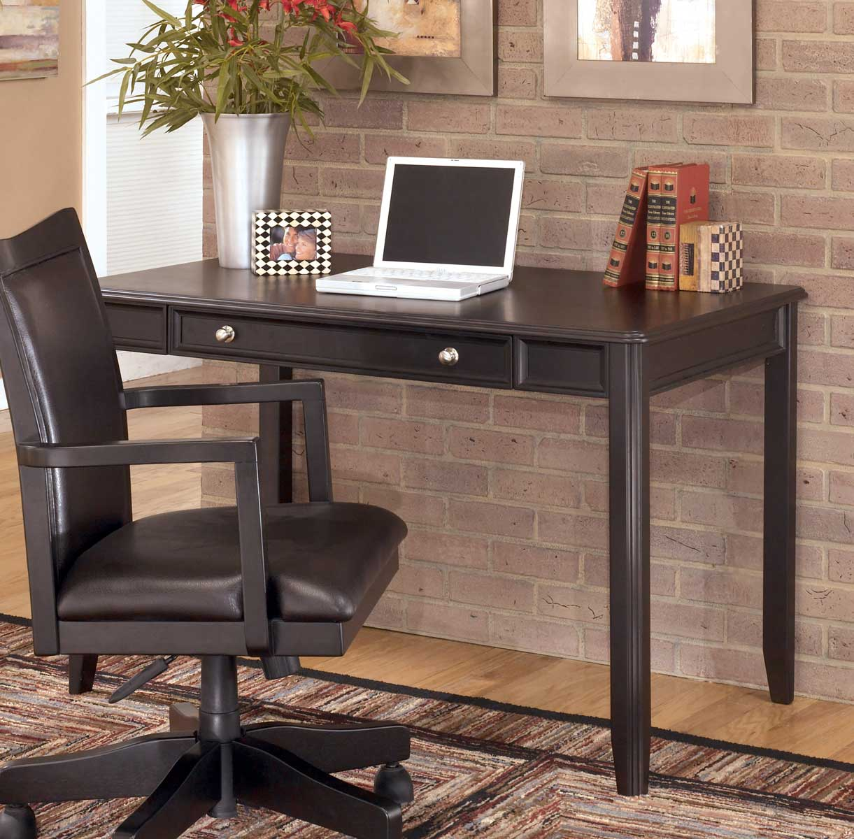 Ashley Carlyle Home Office Small Leg Desk Ashley H371 10 At