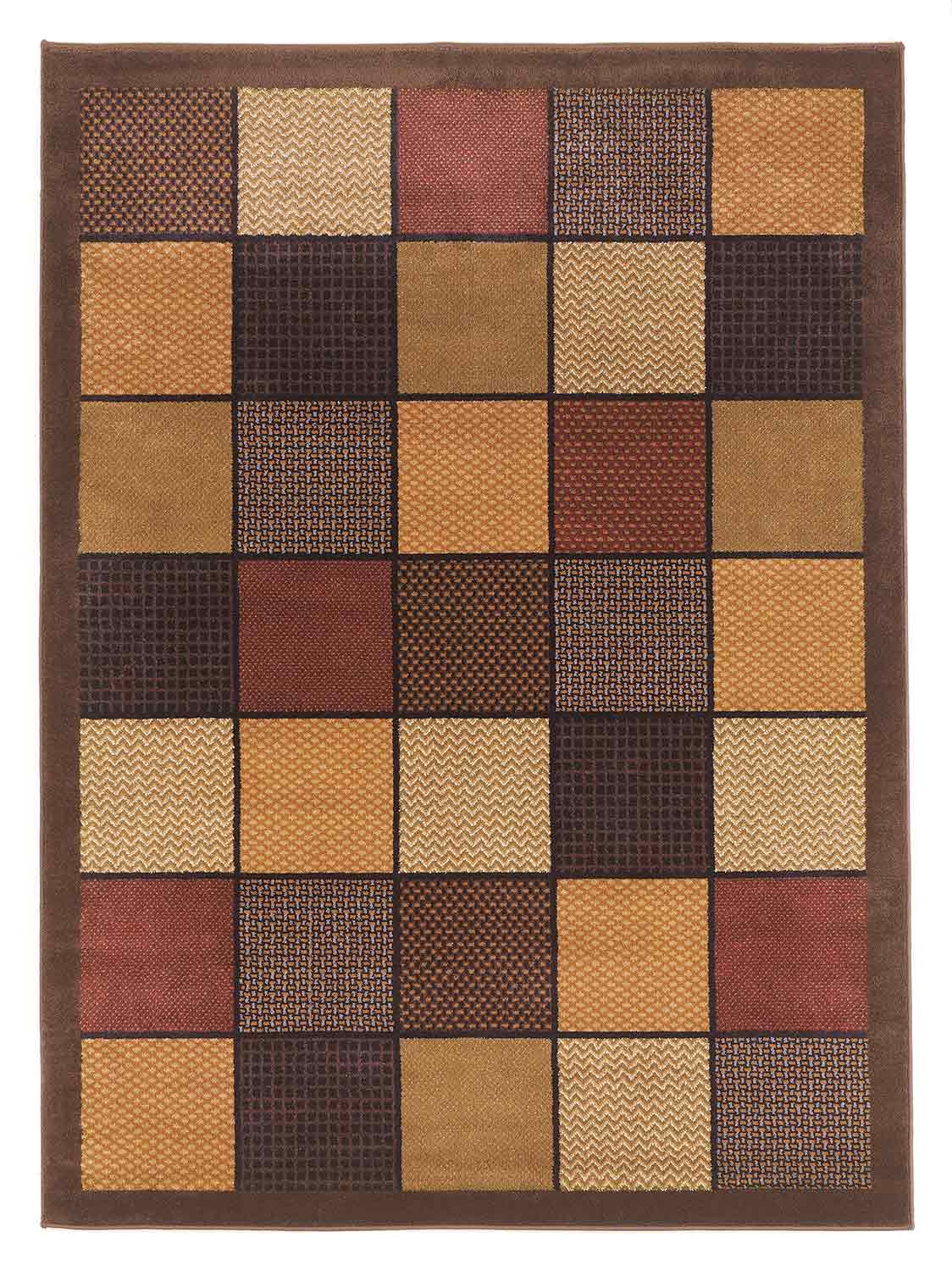 Ashley Patchwork Area Rug - Brown