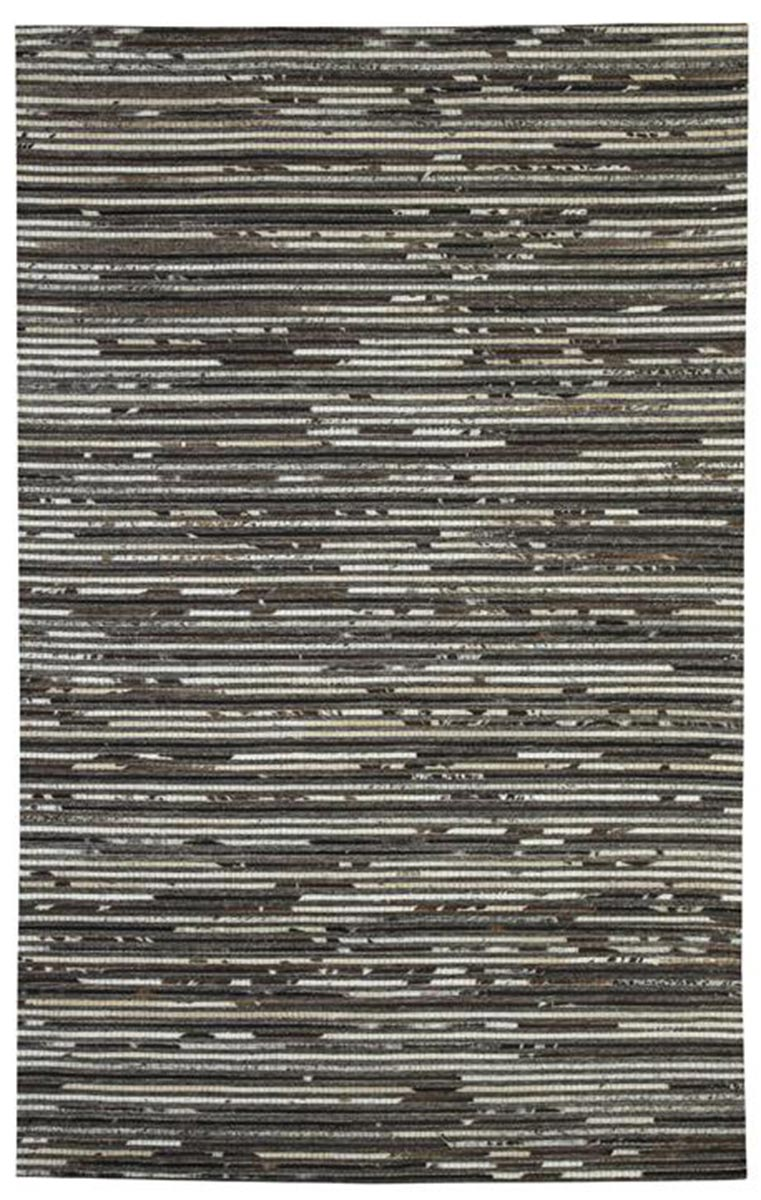 Ashley Maddoc Large Rug - Dark Brown/White