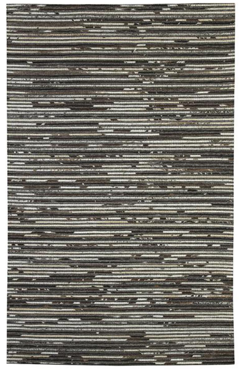 Ashley Maddoc Medium Rug - Dark Brown/White