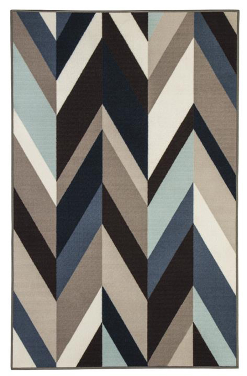 Ashley Keelia Medium Rug - Blue/Brown/Gray