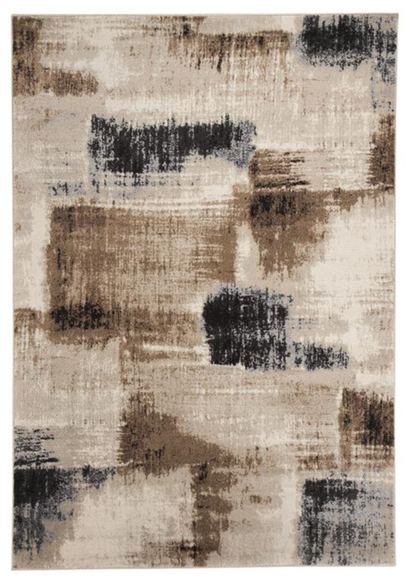 Ashley Calvin Medium Rug - Brown/Black