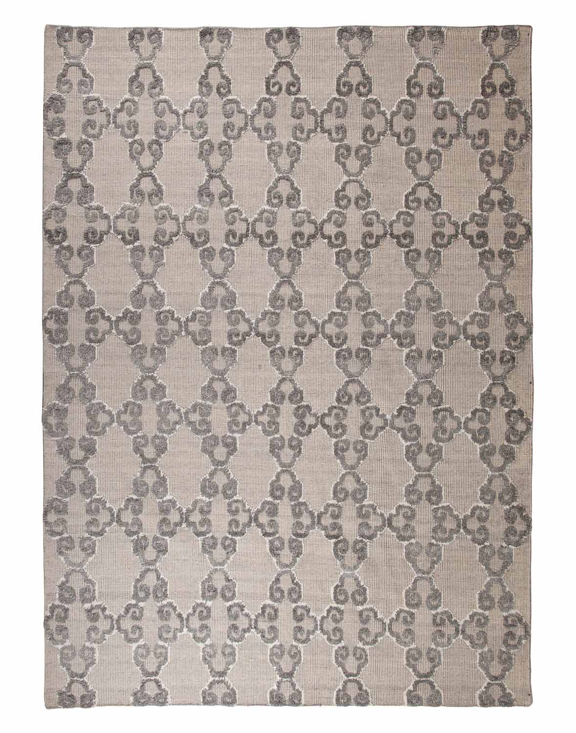 Ashley Patterned Large Rug - Gray/White