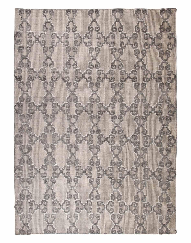 Ashley Patterned Medium Rug - Gray/Ivory