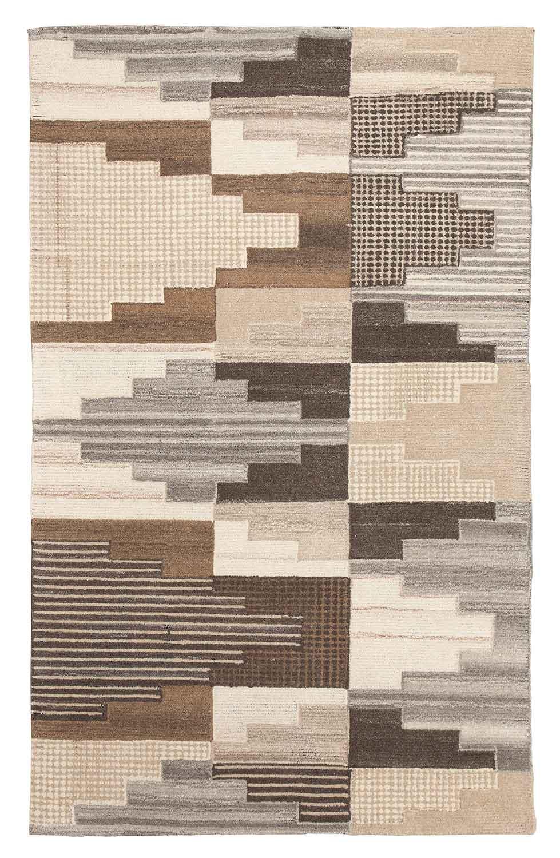 Ashley Watnick Medium Rug - Brown/Gray