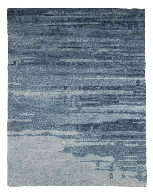 Ashley Patterned Medium Rug - Blue/Gray