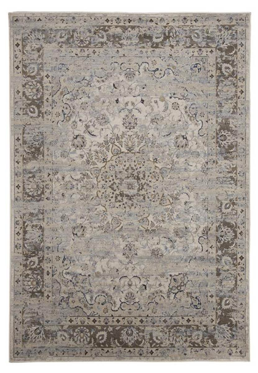 Ashley Kyan Medium Rug - Blue/Ivory