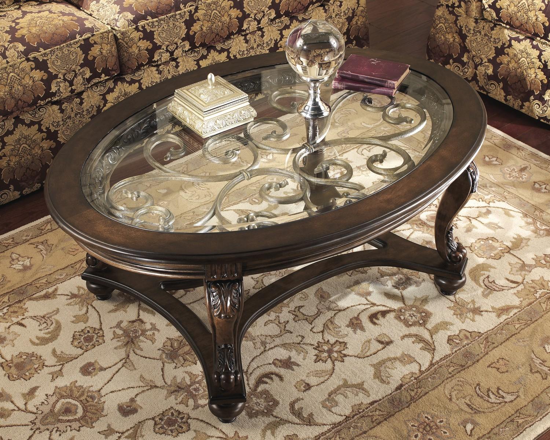 Ashley Norcastle Oval Cocktail Table