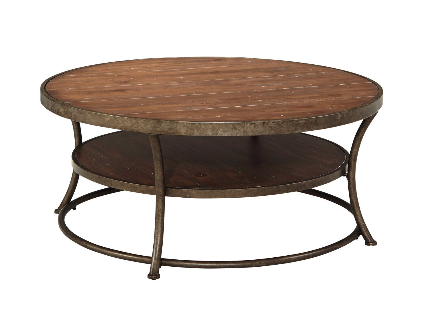 Ashley Nartina Round Cocktail Table Ashley T805 8 At