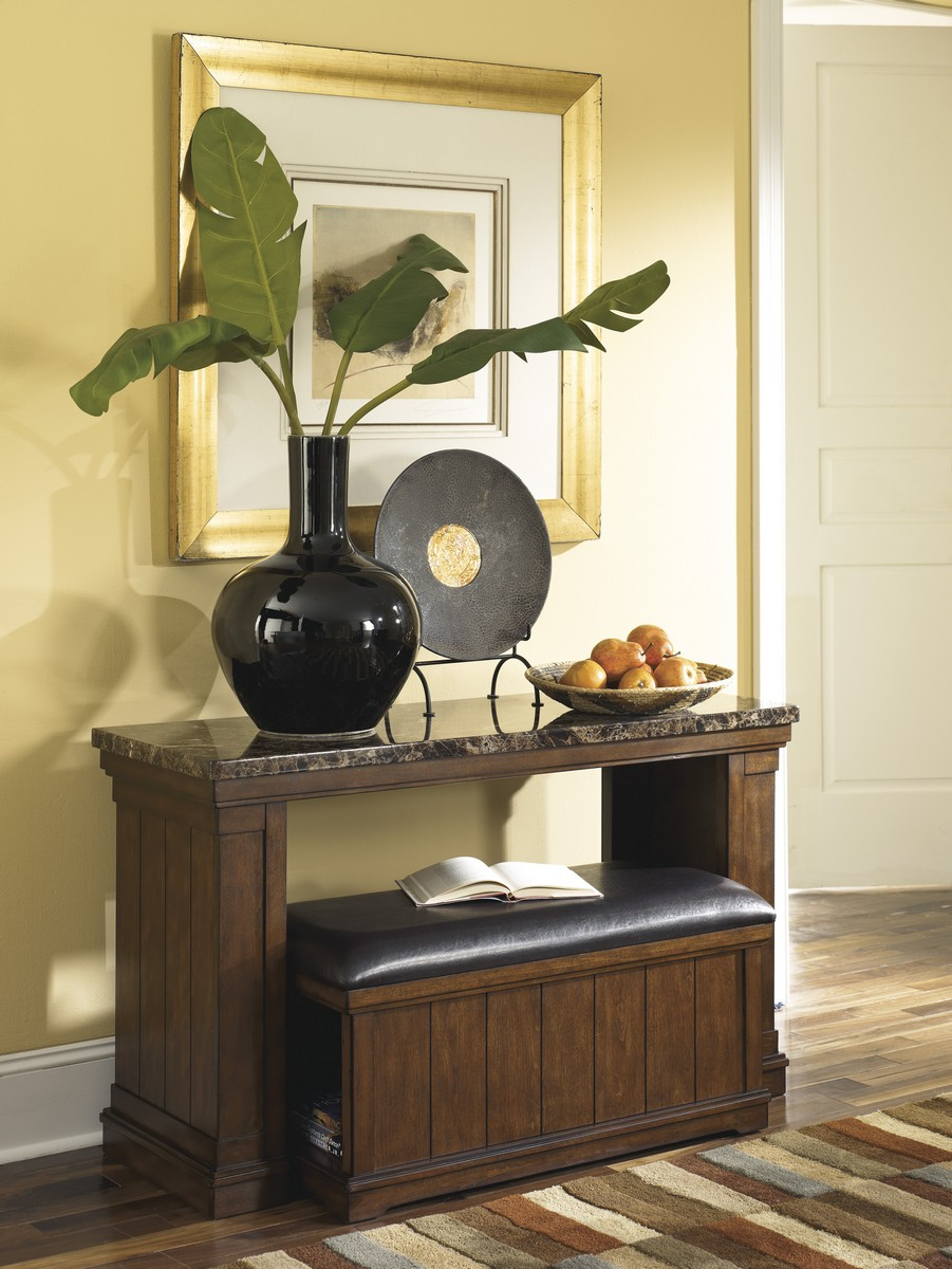 Ashley Merihill Sofa Table With Ottoman Ashley T838 4 At