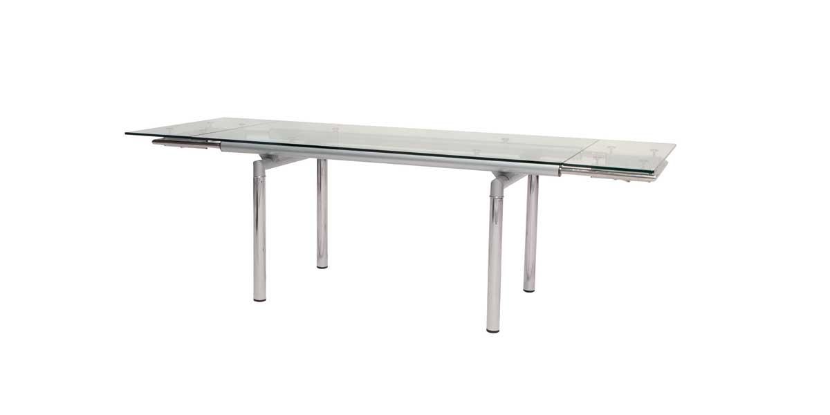 Cheap Alphaville Design Movimento Dining Table-Clear Glass