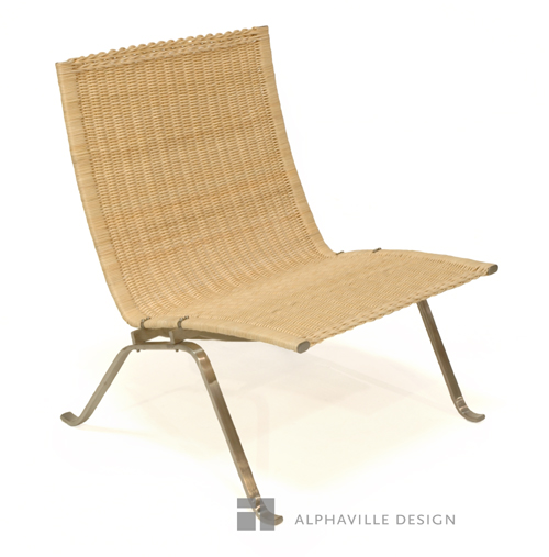 Alphaville Design Easy Chair-Woven Cane