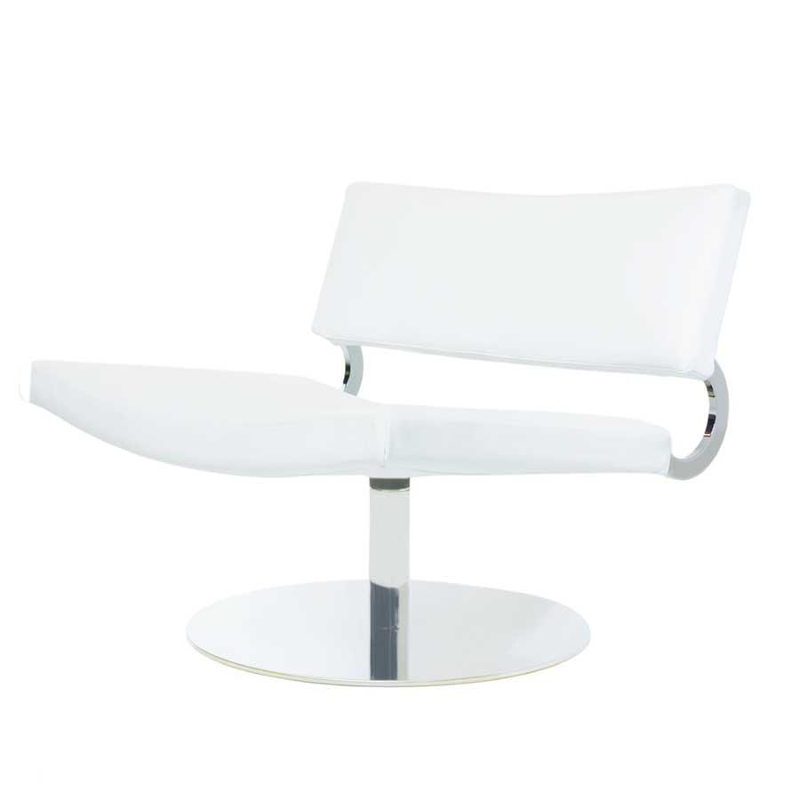 Alphaville Design Fatboy Leather Swivel Chair