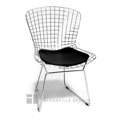 Cheap Alphaville Design Legare Wire Side Chair-Black Pvc Seat Pad