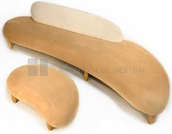 Alphaville Design Miro Foam Sofa & Ottoman-Cream